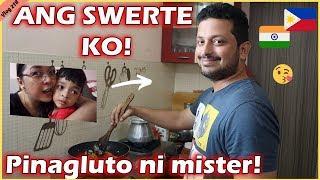 SI DADDY ANG NAGLUTO BUONG ARAW II ANG SWERTE KO TLGA SA KANYA II Filipino Indian Family Vlog # 218