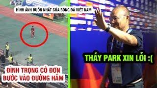 Thầy Park nói lời xin lỗi NHM Việt Nam, Đình Trọng buồn bã sau khi nhận thẻ đỏ rời sân