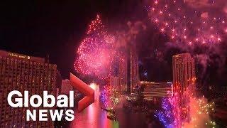 Bangkok revellers 'Thai' one on with 2019 New Year's celebration