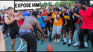 Trash Talker Gets ANKLES BROKEN & EXPOSED Bad! 5v5 Basketball
