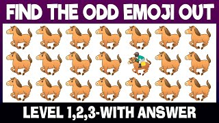 Find The Odd Animal One Out | Spot The Odd Emoji Out | Find The Difference | Animal Puzzles, Emoji