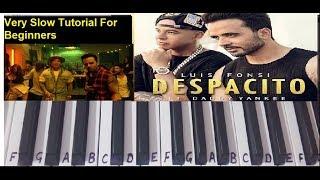 Despacito   Keyboard Cover Tutorial Harmonium Easy