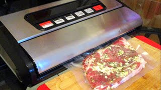 How to Marinate Steaks: Avalon Bay Food Sealer 300S Vacuum Sealer Review