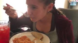 Kayla first meal after 6 weeks of her mouth wired closed