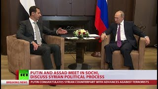 Putin & Assad confirm military op in Syria is at last stage, leaders meet in Sochi