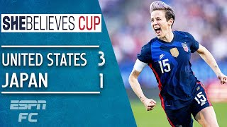 Megan Rapinoe scores stunner & USWNT protest in win vs. Japan | SheBelieves Cup Highlights