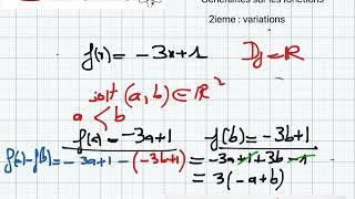 généralités sur les fonctions 2 ieme : sens de variation