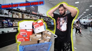 INSIDE THE WORLDS BIGGEST SNEAKER STORE!! (SIZE OF 2 FOOT BALL FIELDS)