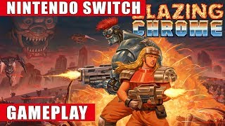 Blazing Chrome Nintendo Switch Gameplay