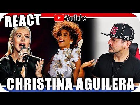 CHRISTINA AGUILERA WHITNEY HOUSTON TRIBUTE - Marcio Guerra Canto Reagindo Musica Live React