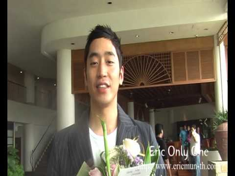 Shinhwa Eric Mun English message to Thai Fans