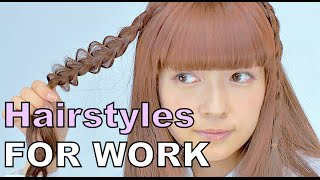 3 WORKING LADY HAIR STYLES Tutorial by kawaii lolita fashion model Misako Aoki | 青木美沙子の清楚ヘアアレンジ講座