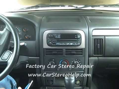 jeep grand cherokee car radio removal and repair youtube. Black Bedroom Furniture Sets. Home Design Ideas