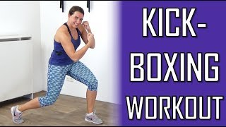10 Minute Cardio Kickboxing Workout – Fat Burning Kickboxing Workout at Home – No Equipment