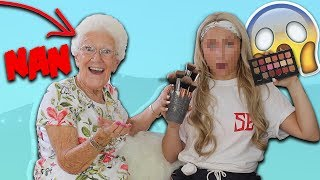 MY 75 YEAR OLD NAN DOES MY MAKEUP!! 😱😂