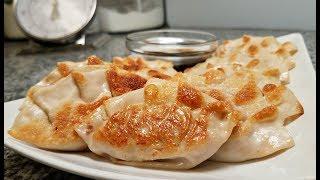 Korean Dumplings Recipe   Kimchi Pork Mandu   Pan Fried Dumplings   Dumpling Sauce Recipe