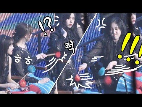 심심했던 예린의 장난에 신비의 응징 mischievous Yerin, SinB reaction : 여자친구 GFRIEND : 가대석 : Edit fancam : 190105 고척돔