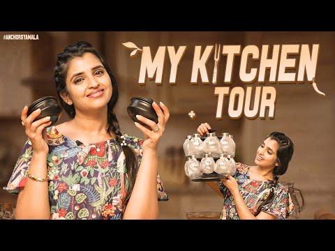 Anchor Syamala's kitchen tour, unboxing of new items