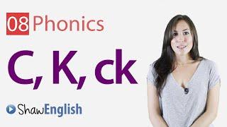 English Phonics Consonants 'c', 'k' and 'ck'