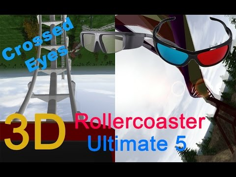 3D Rollercoaster: Ultimate 5 (3D for 3D phones/3D TVs/PCs/crossed-eyes)