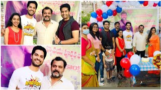 Telugu serial actor Prabhakar birthday celebration pics..