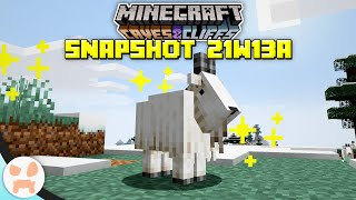 GOATS, NEW LIGHT BLOCK, + MORE! | Minecraft 1.17 Caves and Cliffs Snapshot 21w13a