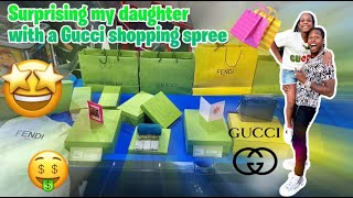 SURPRISING MY DAUGHTER CAMARI WITH A $25,000 GUCCI SHOPPING SPREE AND SHE LOVED IT!