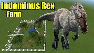 How to Make an Indominus Rex Farm   Minecraft PE