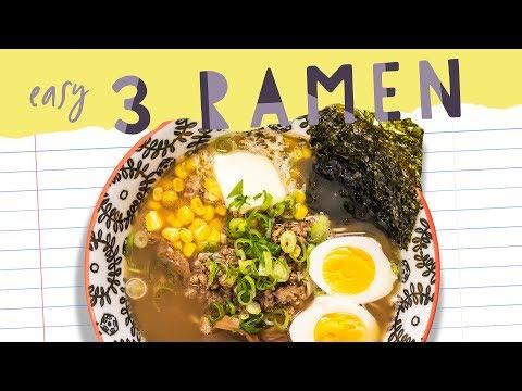 Easy RAMEN (healthier) 3 Ways! Back to School