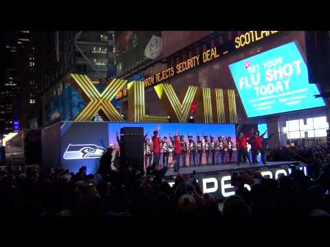 Unveiling of the Roman Numerals - NY Times Square