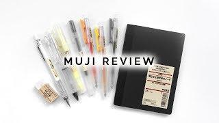 muji stationery review + alternatives