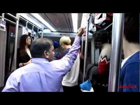 130115 EXO on skytrain in Malaysia KLIA