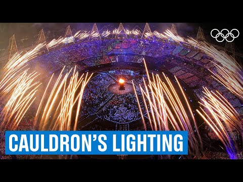 Lighting the cauldron