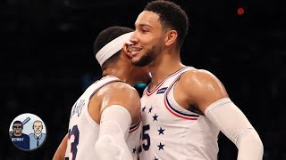 Ben Simmons is hitting 3s according to Tobias Harris | Jalen & Jacoby
