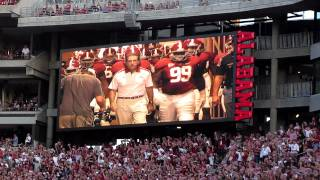 Alabama Crimson Tide coming out of the Tunnel!!