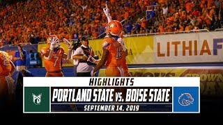Portland State vs. No. 22 Boise State Football Highlights (2019) | Stadium