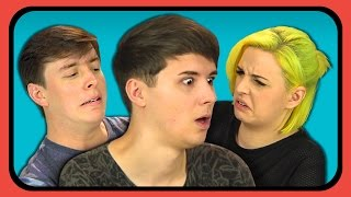 YOUTUBERS REACT TO DON'T HUG ME I'M SCARED 6