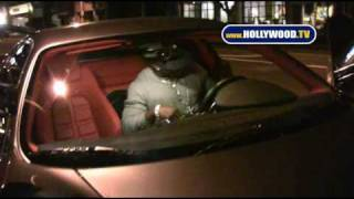 Reggie Bush Leaves Nobu Restaurant Alone.