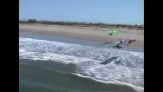 Volar en ultraligero en la playa