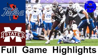 #24 Tulsa vs Mississippi State Highlights | 2020 Armed Forces Bowl | 2020 College Football Highlight