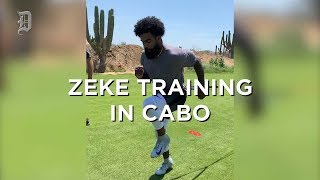 Dallas Cowboys Ezekiel Elliott training in Cabo during holdout