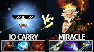 Miracle- Monkey King VS IO Right Click Build Epic Game 7.21 Dota 2
