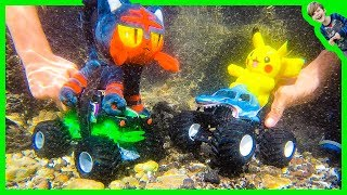 Axel Show Monster Trucks Underwater Ocean Adventure!