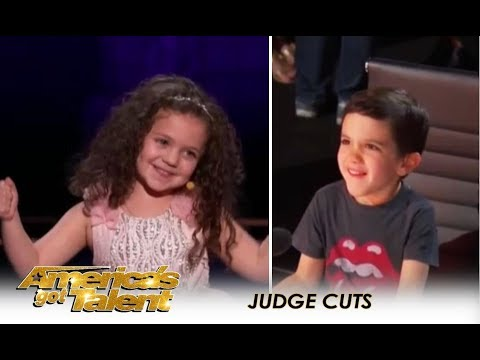 Sophie Fatu: Simon Sets Up His Son Eric With YOUNGEST Contestant Ever! | America's Got Talent 2018