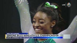 Simone Biles wins 6th championship