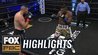 "Luis ""King Kong'"" Ortiz drops Alexander Flores with body shot in seconds 