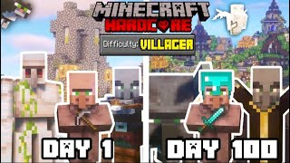 I Survived 100 DAYS as a VILLAGER in HARDCORE MINECRAFT... Here's what happened