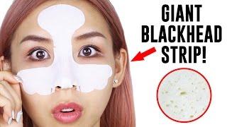 GIANT BLACKHEAD STRIP! - TINA TRIES IT