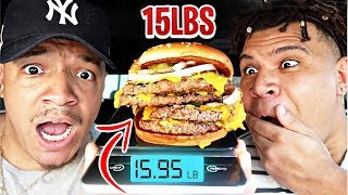 Ordering The HEAVIEST Item From EVERY Fast Food Restaurant!! (Impossible Food Challenge) FT WOLFIE