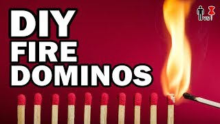 🔥DIY FIRE DOMINOS - Man Vs Pin #469